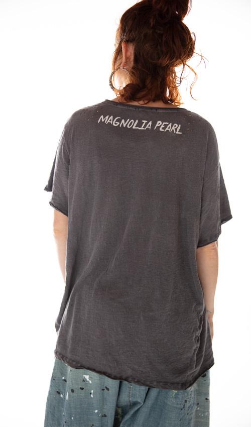 Cotton Jersey Summer of Love Woodstock T, New Boyfriend Cut, Magnolia Pearl