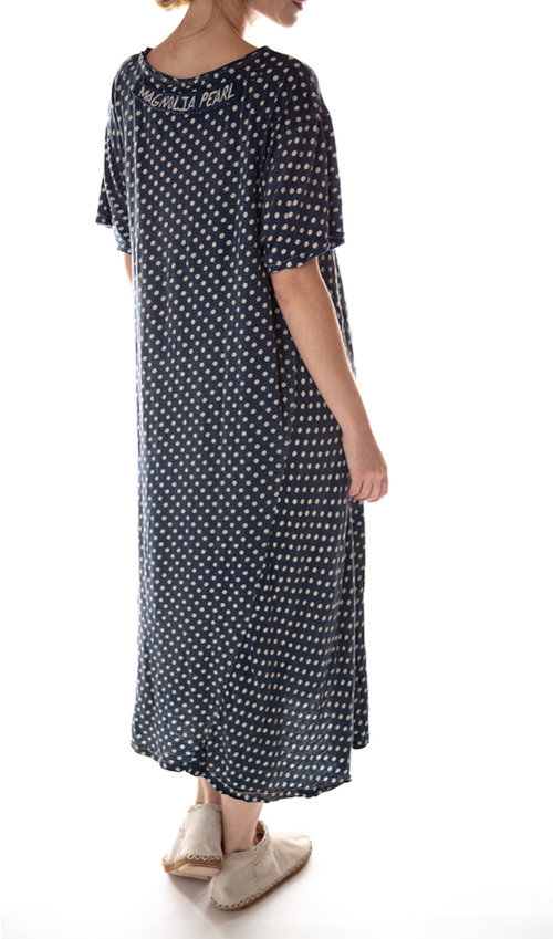 Cotton Jersey T Dress with Pocket, New Boyfriend Cut, Magnolia Pearl