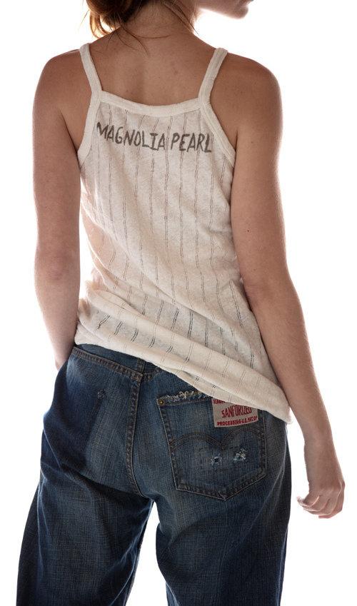 Cotton Knit Astrid Tank, Magnolia Pearl