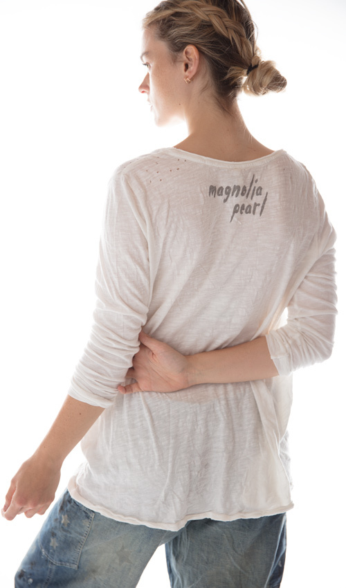 Cotton Jersey Sitting Bull Dylan T, Magnolia Pearl