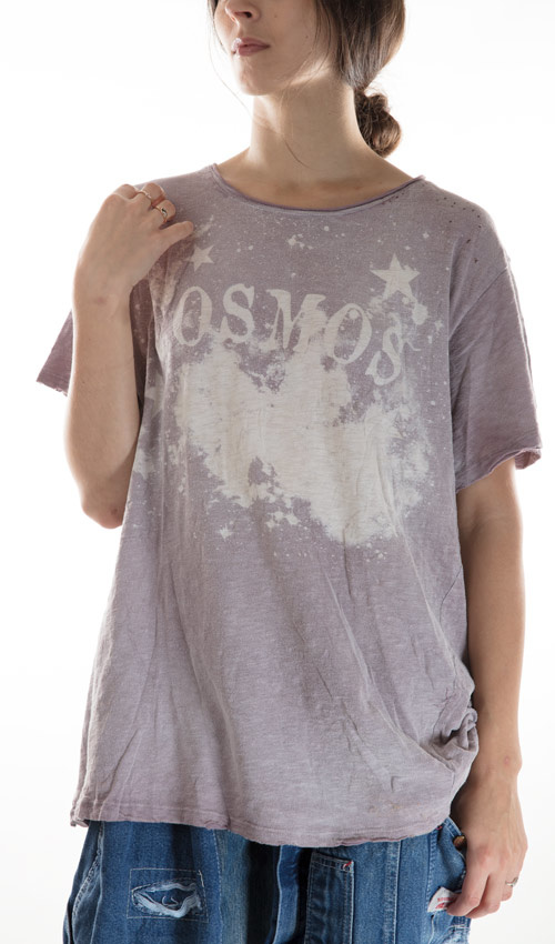 Cotton Cosmos T, New Boyfriend, with Hand Distressing, Magnolia Pearl