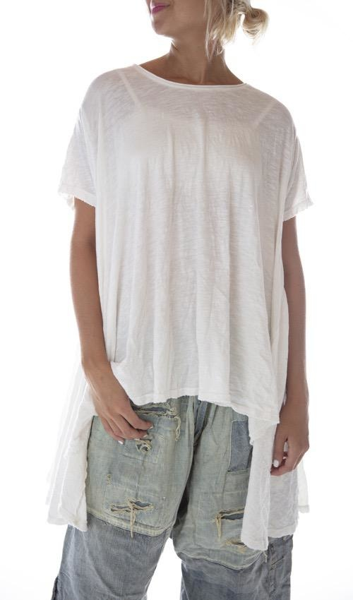 Cotton Jersey Jett T with Distressing, Magnolia Pearl
