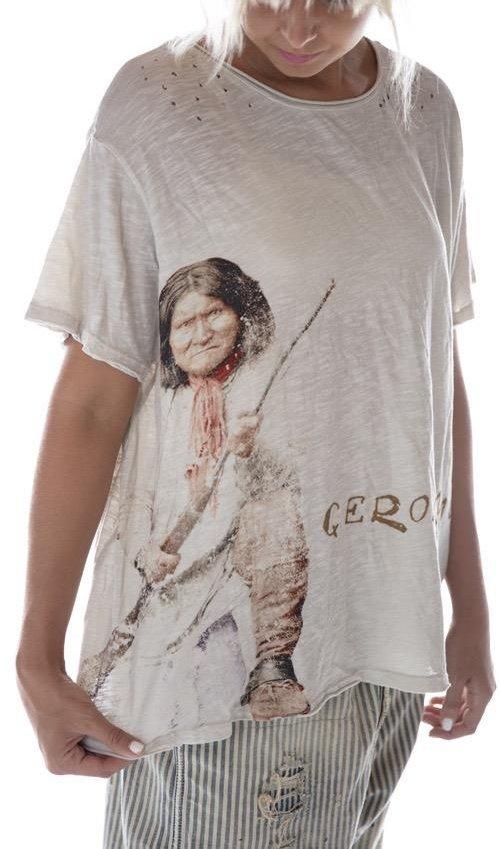 Cotton Jersey Geronimo Rifle T, New Boyfriend Cut, Magnolia Pearl
