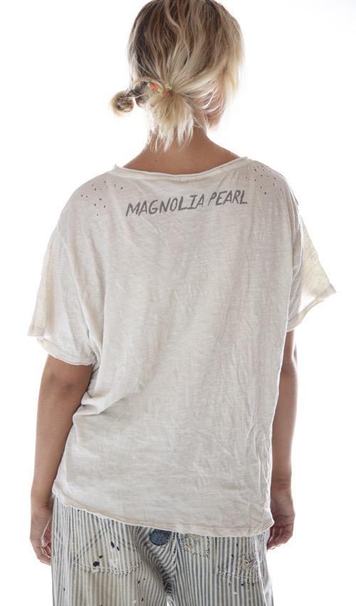 Cotton Jersey Dali T, New Boyfriend Cut, Magnolia Pearl