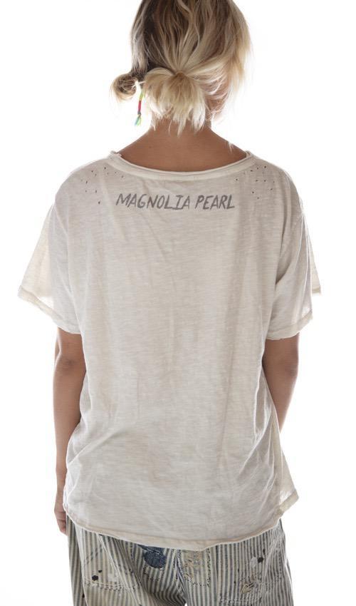 Cotton Jersey Geronimo Bandana T, New Boyfriend Cut, Magnolia Pearl