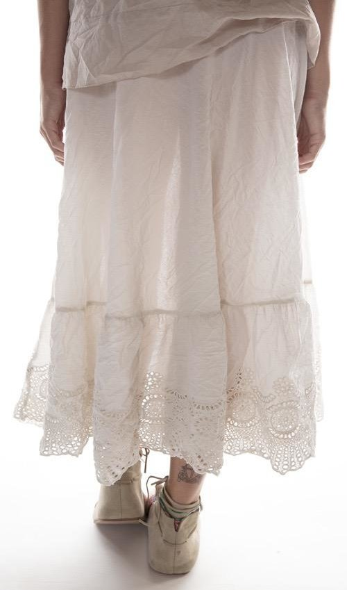 European Cotton You Are My Soul Shine Skirt with Drawstring Waist, Magnolia Pearl