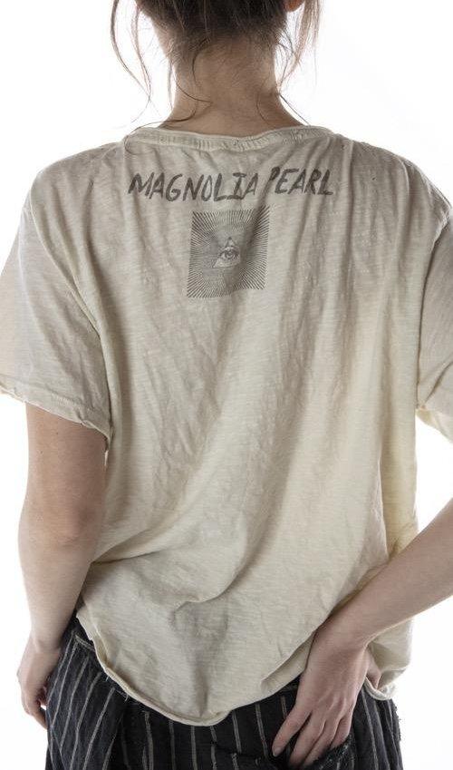 Cotton Jersey Eye Of Ra, New Boyfriend Cut, Magnolia Pearl