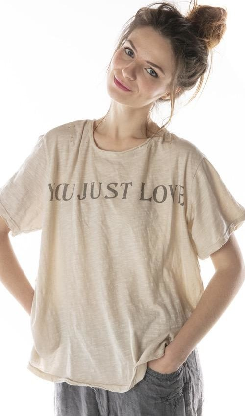 Cotton Jersey You Just Love T, New Boyfriend Cut, Magnolia Pearl
