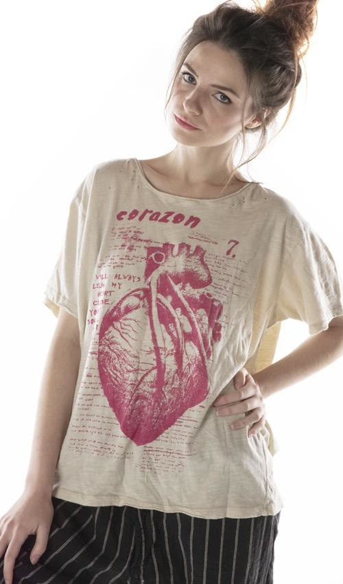 Cotton Jersey Corazon T, New Boyfriend, Magnolia Pearl