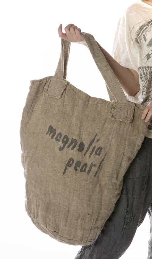 Double Lined Raw Linen Rays For Daze Basket Bag, Magnolia Pearl