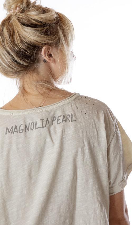 Cotton Jersey Palmistry T, New Boyfriend Cut, Magnolia Pearl