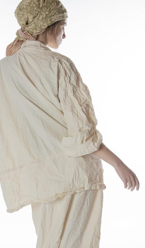 Cotton Poplin Wabi Kimono, Magnolia Pearl
