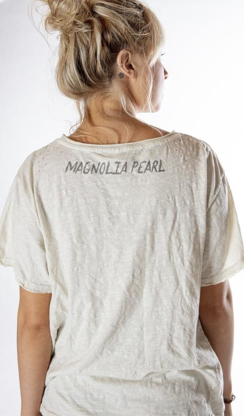 Cotton Jersey Henna Eye T, New Boyfriend Cut, Magnolia Pearl