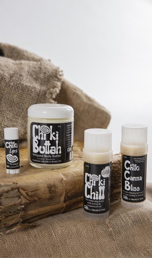 All Natural, Organic Chiki Chill Balm Twist Up Pain Reliever, Magnolia Pearl