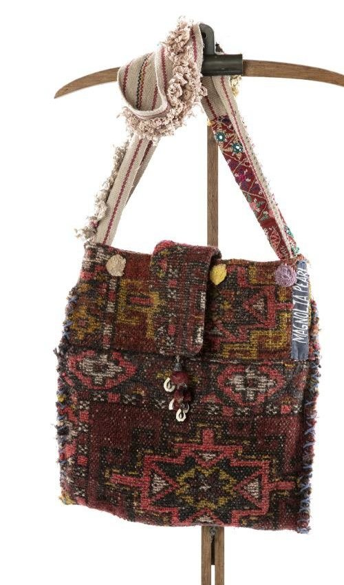 ntique Textile Messenger Bag with Hand Stitching, Specialty Trims and Tattered Lace, One Of A Kind, Parnassus Shoot, Magnolia Pearl