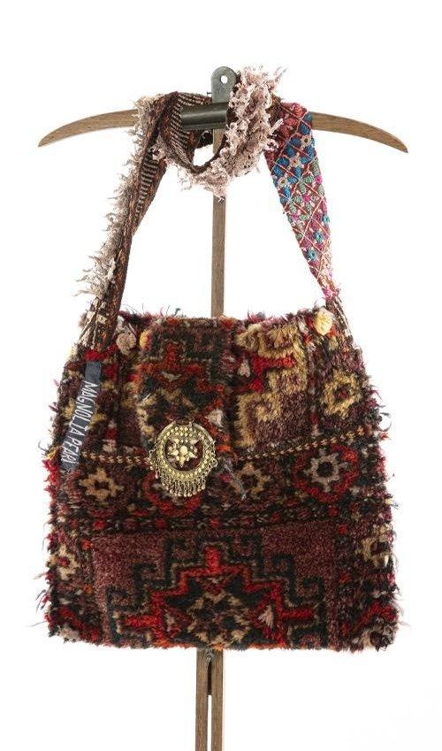 Antique Textile Messenger MP Tote, Magnolia Pearl