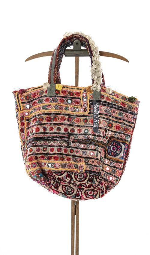 Antique Textile Bucket Bag with Hand Stitching, Specialty Trims and Tattered Lace, One Of A Kind, Parnassus Shoot, Magnolia Pearl