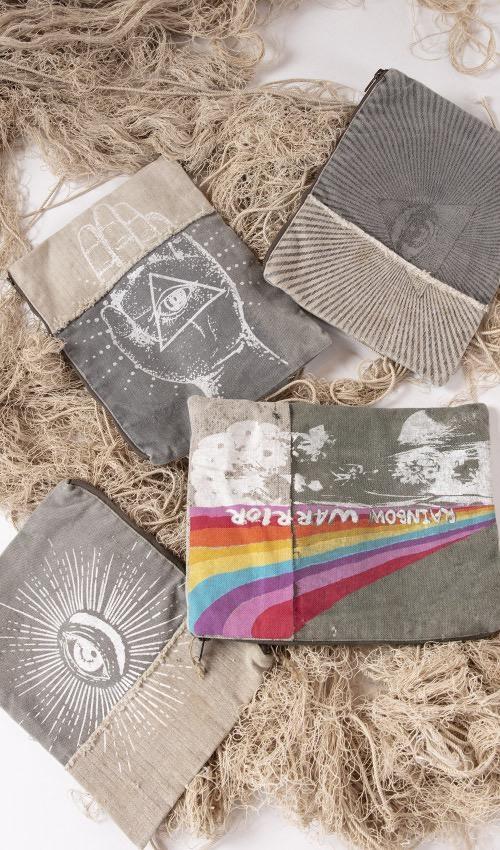 Vintage Army Canvas Rainbow Warrior Zip Bag, Magnolia Pearl