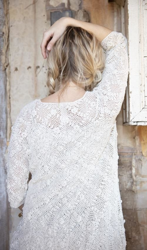 Hand Crochet Sherbourne Lace Dress, Magnolia Pearl