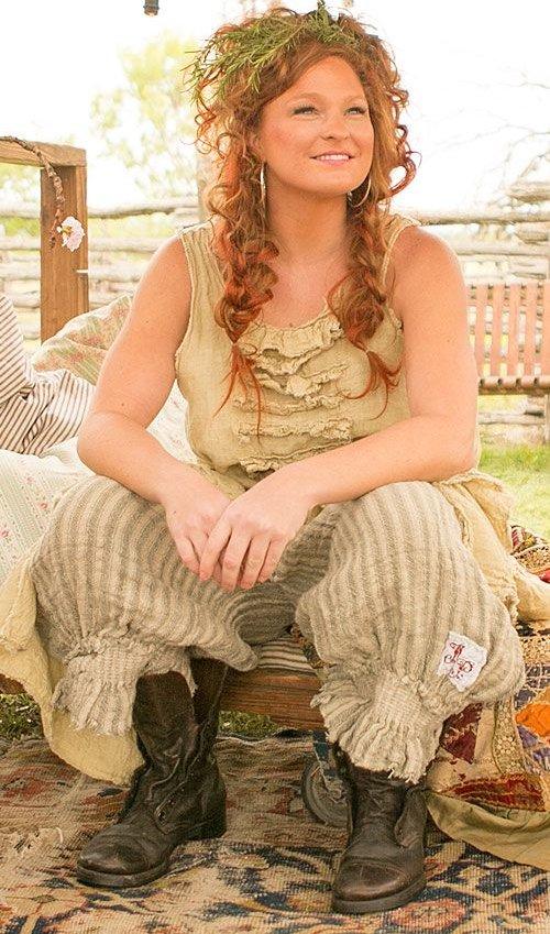 Handwoven European Linen Edlyn Shorts with Shearing Waist and Legs in Juniper Stripe