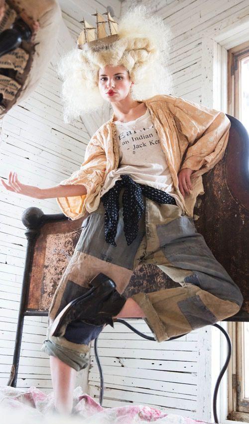 Silk Georgette Monet Scarf with Hand Stitching