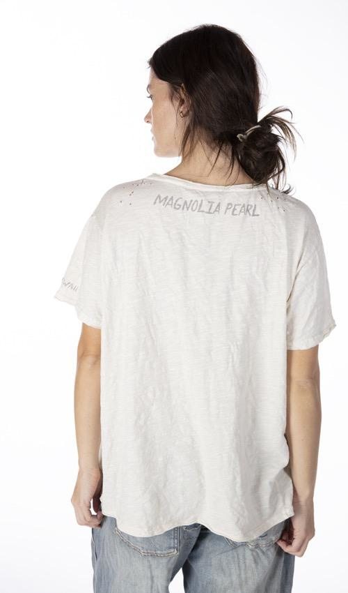 Cotton Jersey Hang Loose T, Boyfriend Cut, Magnolia Pearl