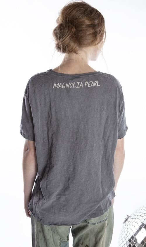 Cotton Jersey Heart of Promise T, Boyfriend  Cut, Magnolia Pearl