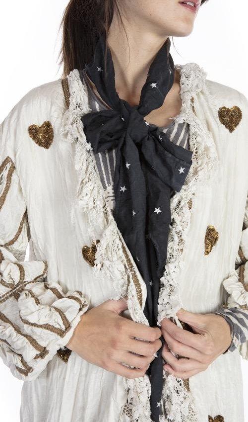 Cotton Silk Robina Star Bowtie, Magnolia Pearl