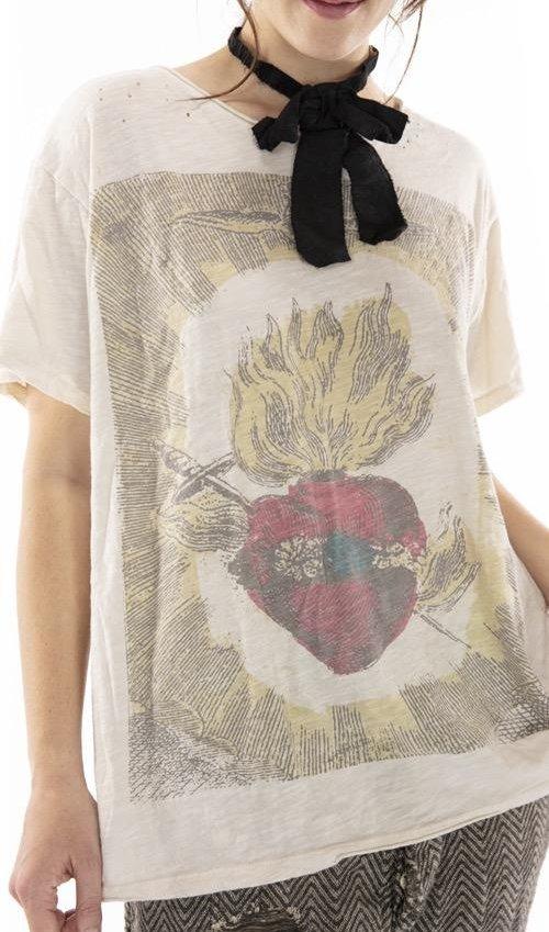 Cotton Jersey Eternal Love T, Boyfriend Cut, Magnolia Pearl