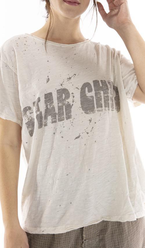 Cotton Jersey Star Child T, Boyfriend Cut, Magnolia Pearl