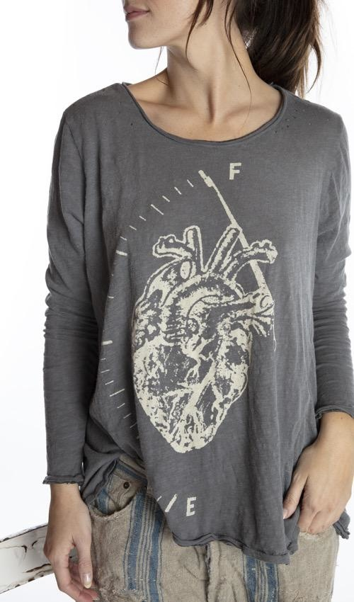 Cotton Jersey Full Heart Dylan T, Magnolia Pearl