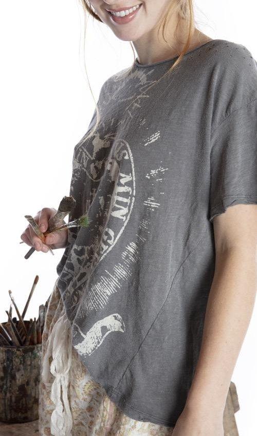 Cotton Jersey Freedom Soars T, Boyfriend Cut, Magnolia Pearl