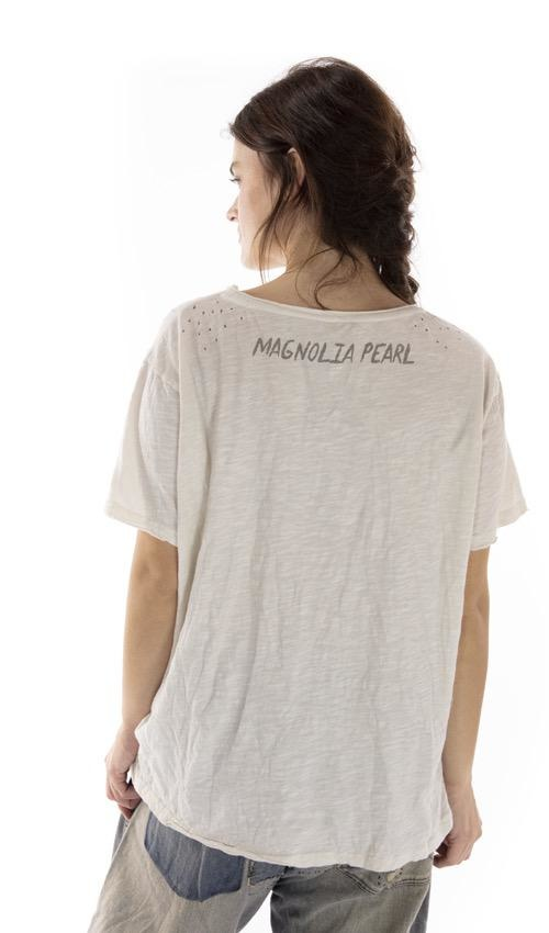 Cotton Jersey Fountain Of Mercy T, Boyfriend Cut, Magnolia Pearl