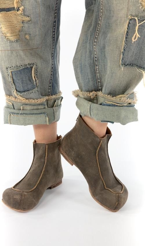 All Leather Rembrandt Boots with Zipper Closure and Leather Sole, Magnolia PearlAll Leather Rembrandt Boots with Zipper Closure and Leather Sole, Magnolia Pearl