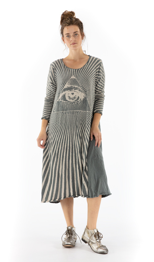 Cotton Jersey Rays For Daze Dylan T Dress, Magnolia Pearl
