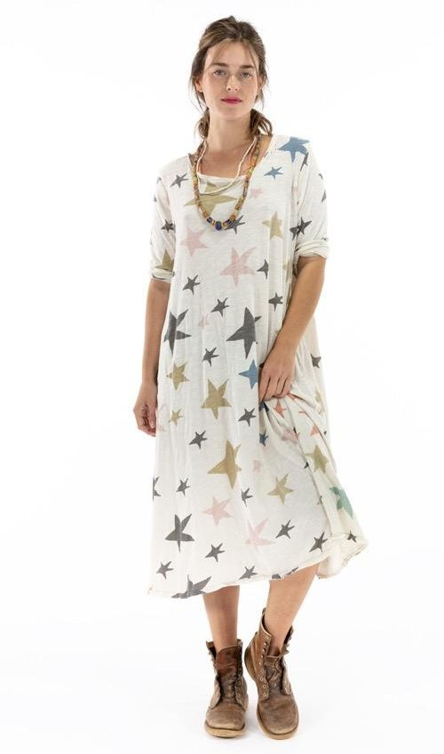 Cotton Jersey Dylan T Dress, Magnolia Pearl