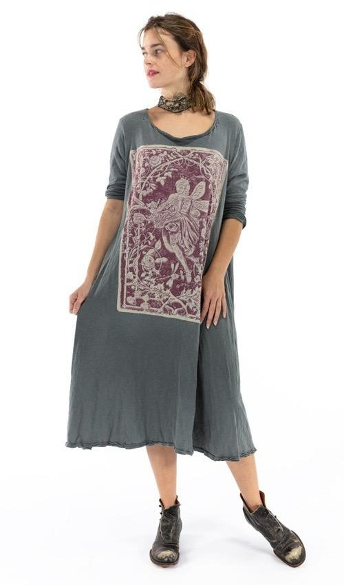 Cotton Jersey Healer Of Nature Dylan T Dress, Magnolia Pearl