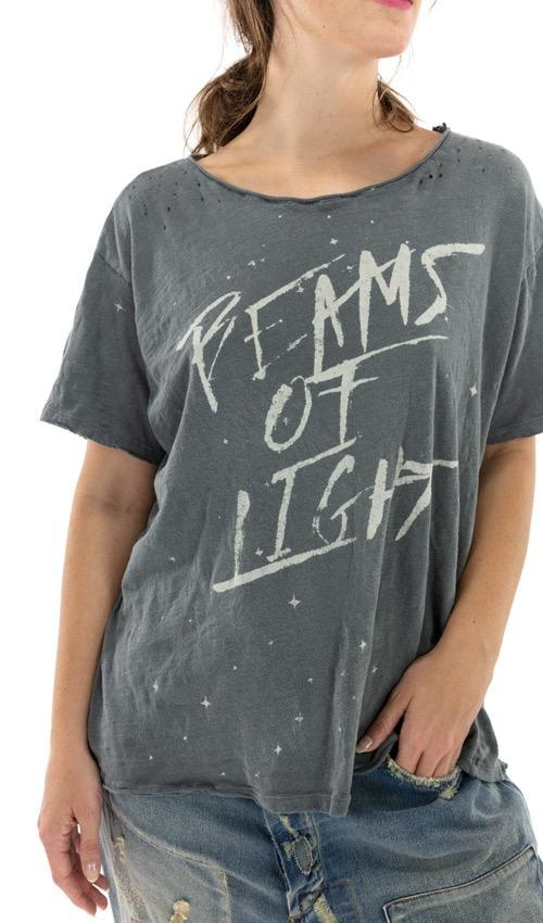 Cotton Jersey Beams Of Light T, Boyfriend Cut, Magnolia Pearl