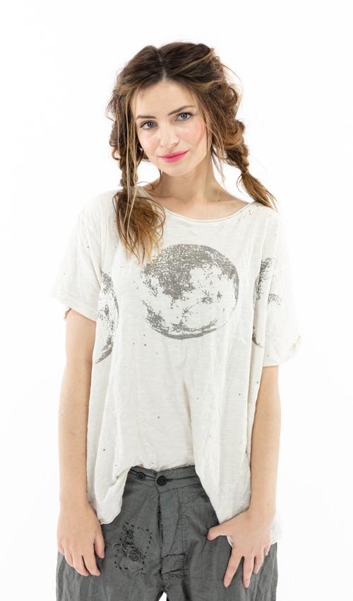 Cotton Jersey Celestial Sphere T, Boyfriend Cut, Magnolia Pearl