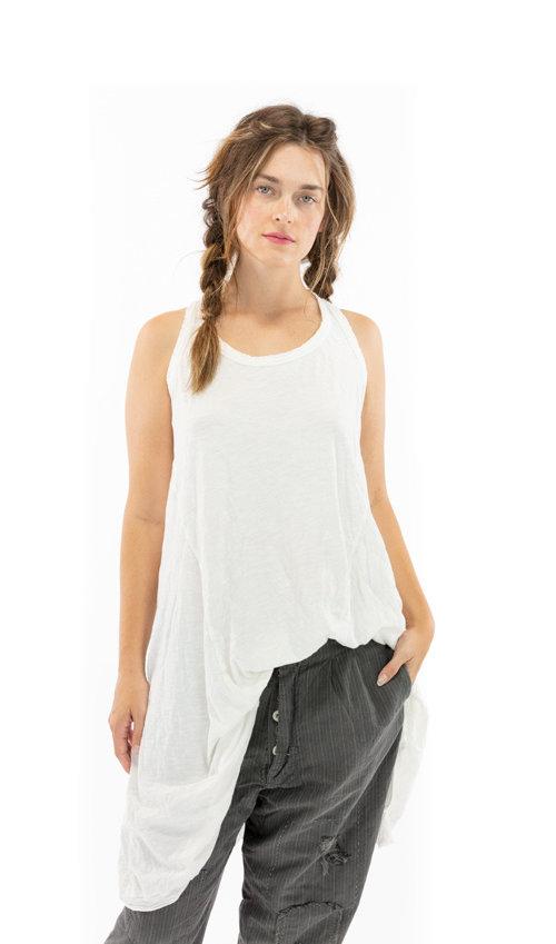 Cotton Jersey Paz A Line Tank Dress, Magnolia Pearl