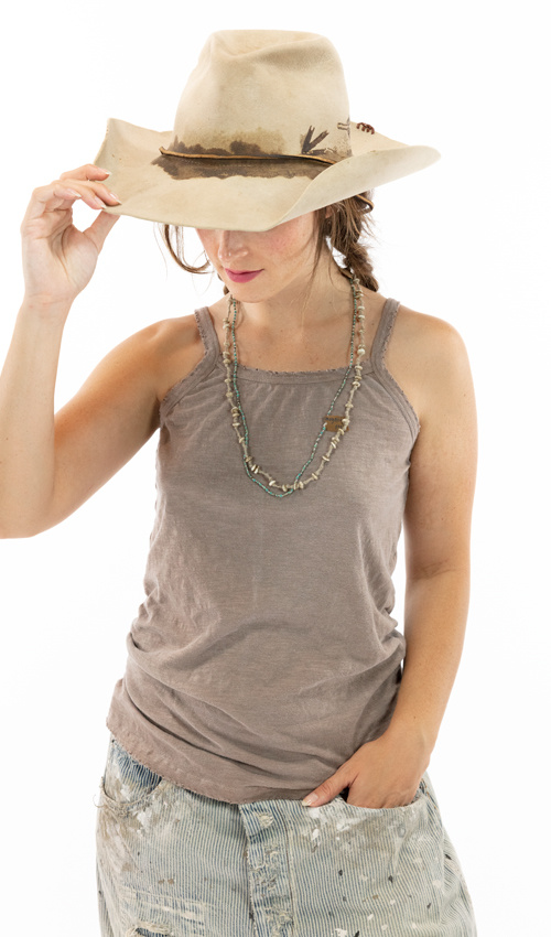 Cotton Jersey Astrid Tank, Magnolia Pearl, Clay, One Size