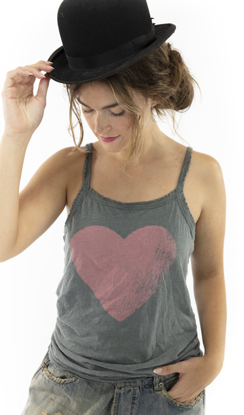 Cotton Jersey Season Of Love Astrid Tank, Magnolia Pearl, Ozzy, One Size