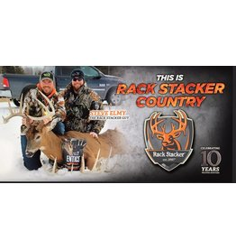 Rack Stacker Hunt camp banner 24x48