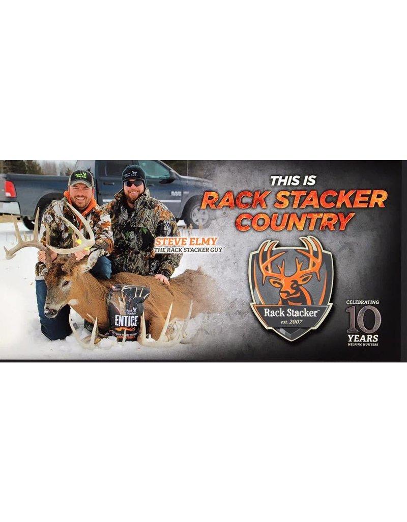 Rack Stacker Hunt camp banner 24x48