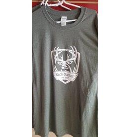 Rack Stacker Green Promo T-shirt NEW logo