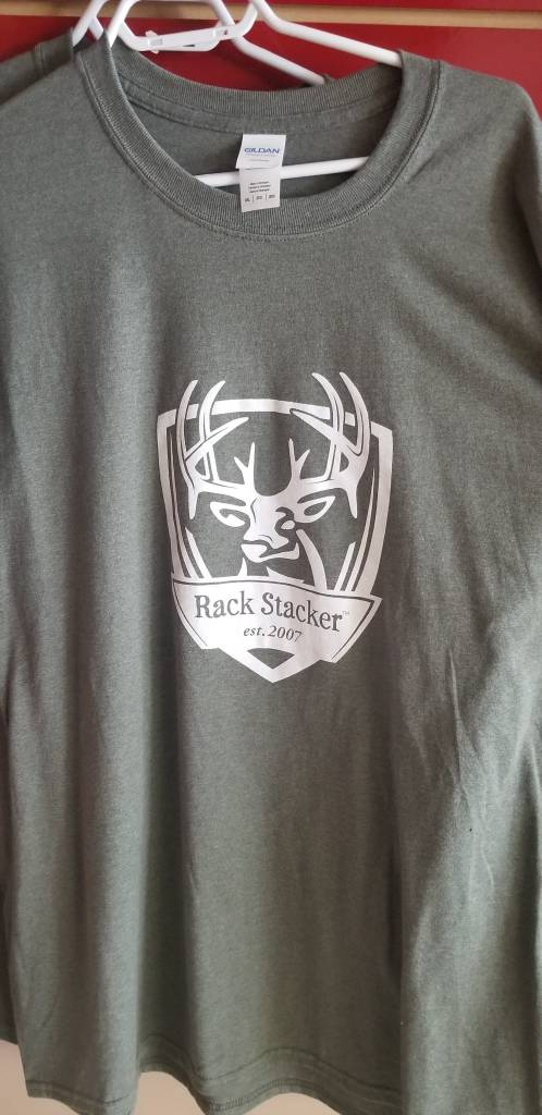 Rack Stacker Green Promo T-shirt NEW logo