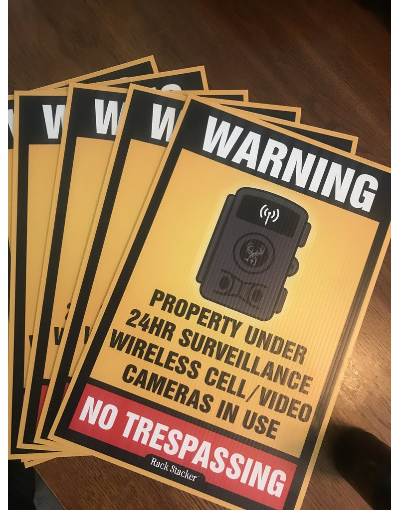"Rack Stacker No Trespassing Signs  (48PK) 12""x18"""