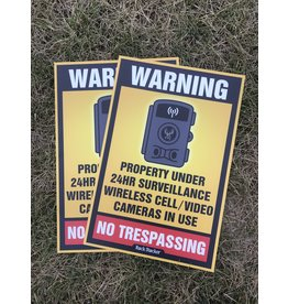 "Rack Stacker No Trespassing  Signs (12PK) 12""x18"""