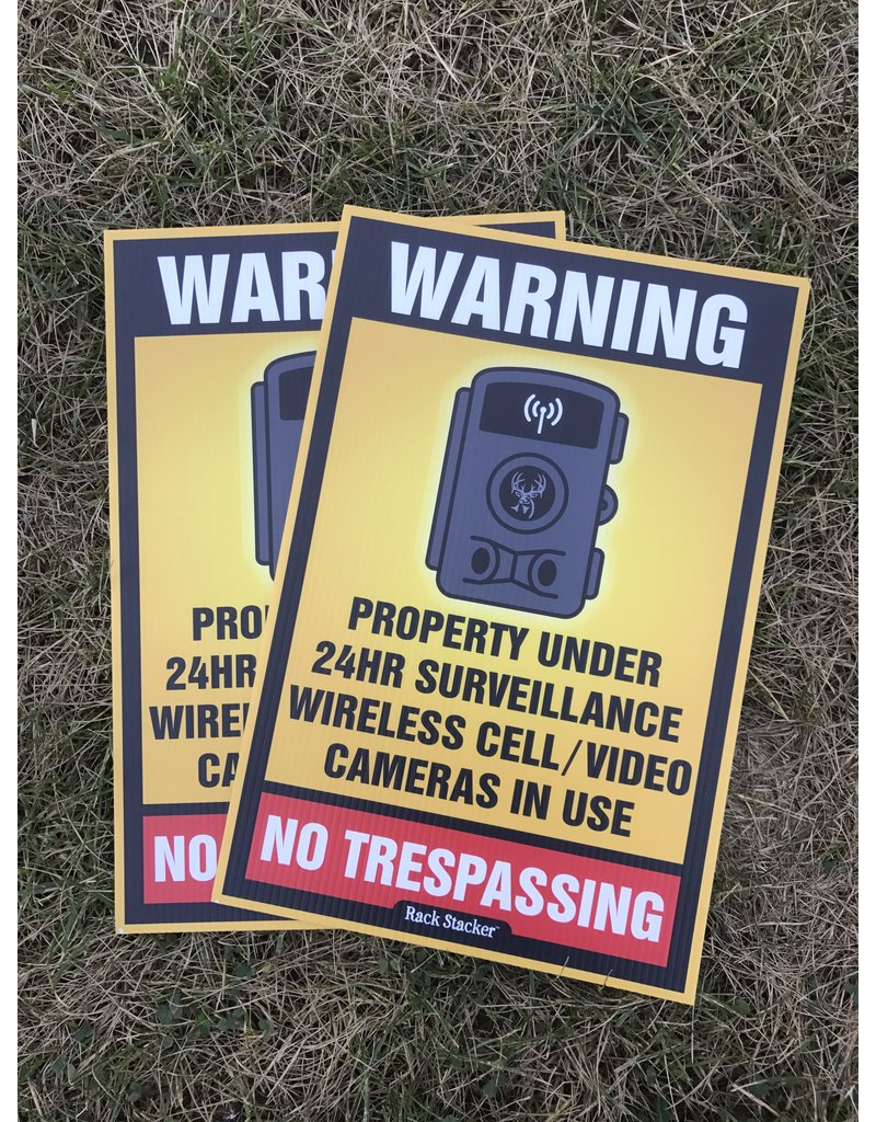 "Rack Stacker No Trespassing  Signs (12PK) 12""x18"""