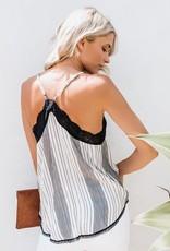 Striped Lace Cami